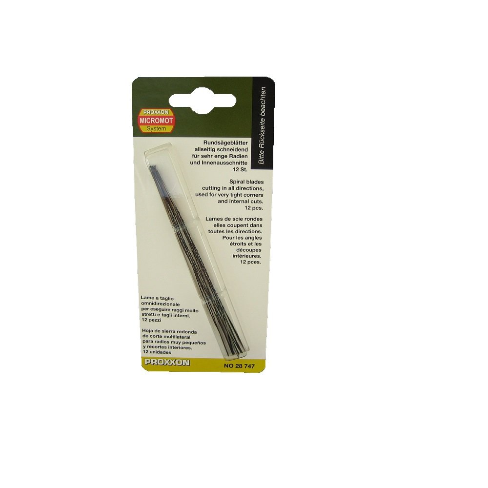 Proxxon 28747 Spiral Scroll Saw Blades without Pin