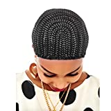 Wendy Hair Black Cap Wig For Making Braid Synthetic Wig Weaving Cap With Clips And Strong Elastic Band Braided Cap for Sew in
