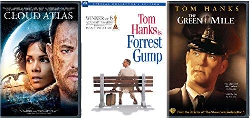 Tom Hanks Collection Green Mile / Forrest Gump & Cloud Atlas DVD Set 3 Film Favorites Bundle