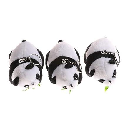 DCFVGB Moda De Peluche Animal Panda Llavero Oso Llavero De ...