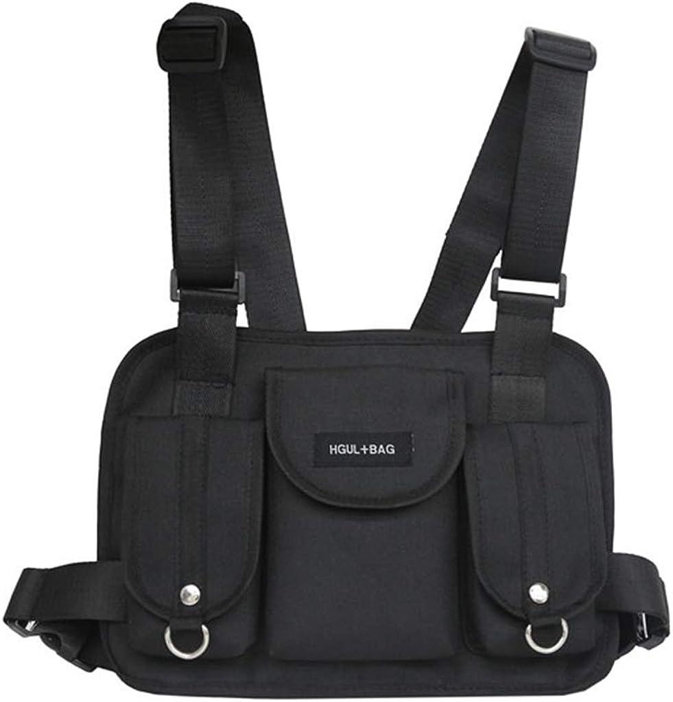Ruzida Men Women Backpack Cool Guy Fashion Bags Men Running Chest Rig Waist Bag Hip Hop Street Wear Shoulder Bag