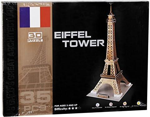 Puzzle 3D Torre Eiffel 35 piezas: Amazon.es: Juguetes y juegos
