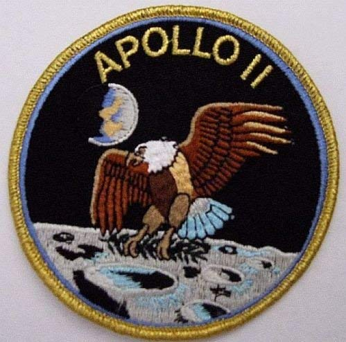"""4"""" Apollo 11 Mission Patch Official NASA Edition Neil Armstrong Buzz Aldrin Wholesale Free Shipping Dropship"""