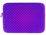 AZ-Cover 11-Inch Bag Diamond Foam Shock-Resistant Neoprene Sleeve (Purple) For Samsung ATIV XE700T1C-A01US Smart PC Pro 700T 11.6-Inch Detachable 2 in 1 Touchscreen Laptop
