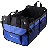 HUKOER Trunk Organizers / Backseat Storage/ Car Cargo Carrier/ Storage Box with Side Pocket Anti-skid Foldable Storage Box of Sundries Strong Polyester 14.57