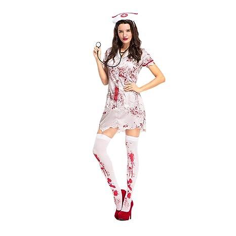 LCWORD Terror De Halloween Disfraz De Enfermera Sangrienta ...