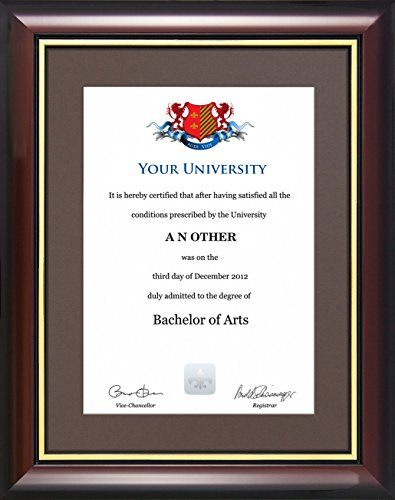 Graduation Certificate Frame - Traditional Style (Certificate not included) (Traditional Style Chocolate)