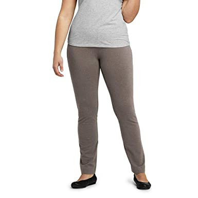 3609d1eaa50 Lands  End Women s Plus Size Starfish Slim Leg Elastic Waist Pants Mid Rise  at Amazon Women s Clothing store