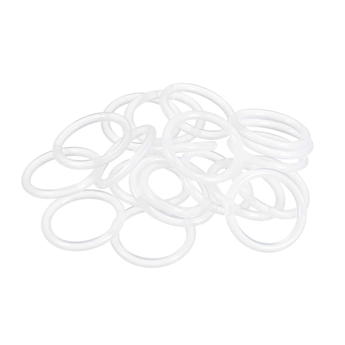 uxcell Silicone O-Ring, 25mm OD, 19mm ID, 3mm Width, VMQ Seal Rings Gasket, White, Pack of 20