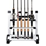 KastKing Rack 'em Up Portable Aluminum Fishing Rod Holder – 12 Rods Rack SilverBlack Review