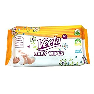 Veela Baby Wipes, Super Value 1920 Wipes (24 Tubs of 80 Count) Bulk Buy