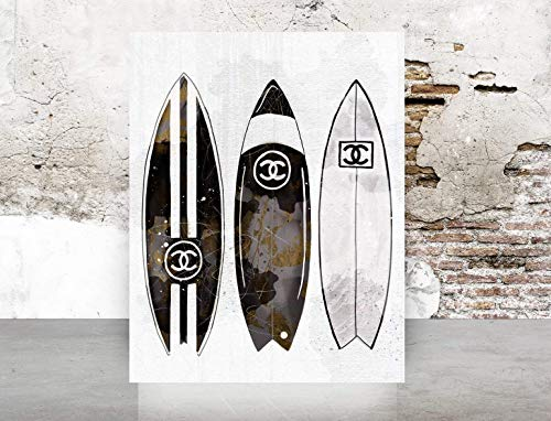 (Wall Art Poster Print Glam Designer Fashion Home Decor Surfboards)