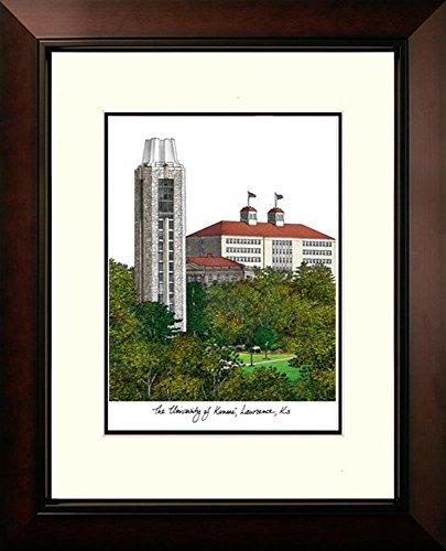 Kansas Jayhawks KU Lithograph Framed Campus Print by Landmark Publishing