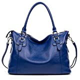 BOSTANTEN Women's Leather Handbags Tote Shoulder Purse Top-handle Crossbody Bag Blue