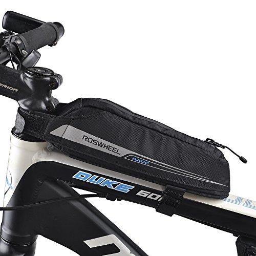 c76ffdbc896 LiDiwee Bolsa Bicicleta, Triángulo Bici Material Jacquard Bolsa Tubo Bicicleta  Bolsas Impermeable para Manillar para de la Bici del Camino(0,4L):  Amazon.es: ...