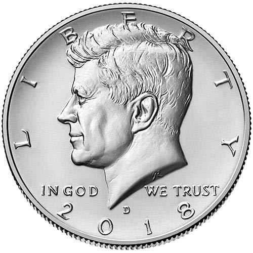 (2018 D BU Kennedy Half Dollar Choice Uncirculated US Mint)