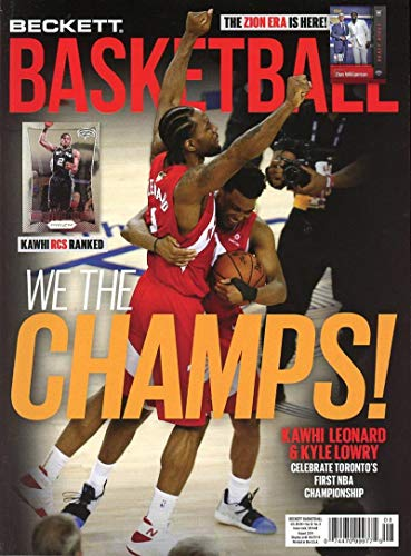 Beckett Basketball Monthly Price Guide Card Magazine August 2019 The Champs Kyle Lowry Kawhi Leonard
