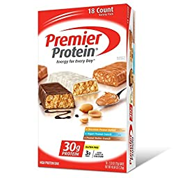 Premier Protein Bar Variety Pack, 18 Count, 2.53 Ounce Each