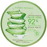 Nature Republic New Soothing & Moisture Aloe Vera 92% Gel, 10.56 Fl Oz