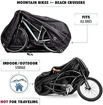 Waterproof Outdoor Bicycle Storage for 1 Bike Duty TeamObsidian Bike Cover L