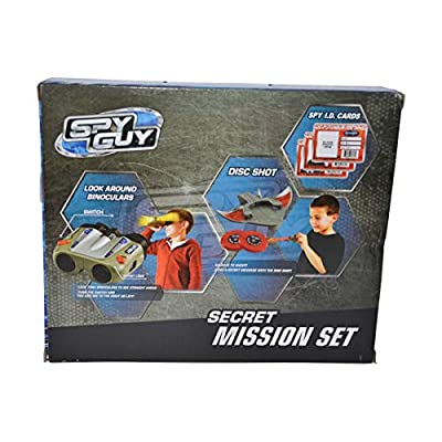 Spy Guy 10 Piece Toy Secret Mission Set with Look Around Binoculars (Binoculars): Toys & Games