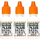 TheraBreath PLUS Professional Formula Nasal-Sinus Drops, 0.5-Ounce Bottles (3 Count)