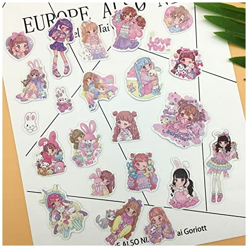 23pcs Kawaii Japanese Style Creative Very Cute Younger Sister Sticker Self-Made Small Girls Paper Stickers