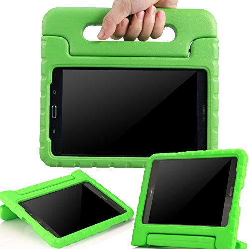 AVAWO-Samsung-Galaxy-Tab-A-80-2015-Kids-Case---AVAWO-Light-Weight-Shock-Proof-Convertible-Handle-Stand-Kids-Friendly-for-Samsung-Tab-A-8-Inch-SM-T350-Tablet-Green