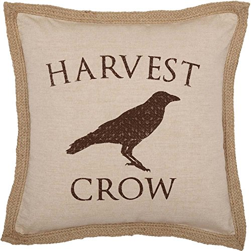 Piper Classics Harvest Crow Throw Pillow Cover, 20'' x 20'', Fall Autumn Country Primitive Farmhouse Home Decor by Piper Classics (Image #1)