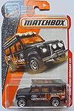 Matchbox, 2017 MBX Heroic Rescue, Land Rover Defender 110 [Black] 84/125