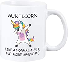 Perfectostore Unicorn Aunt Gift Mug – Best Aunticorn Ever Gifts from Niece or Nephew – Birthday or Mothers Day Gift Idea...