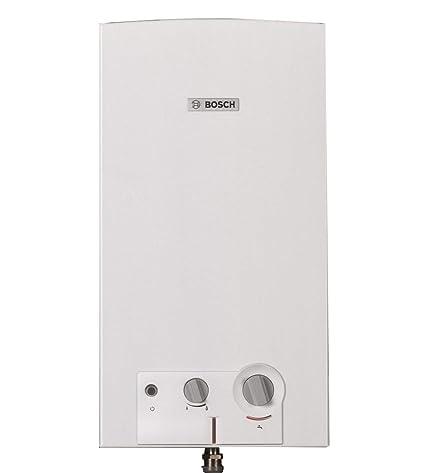 Bosch - Calentador de metano de cámara abierta, blanco, código 7736504163