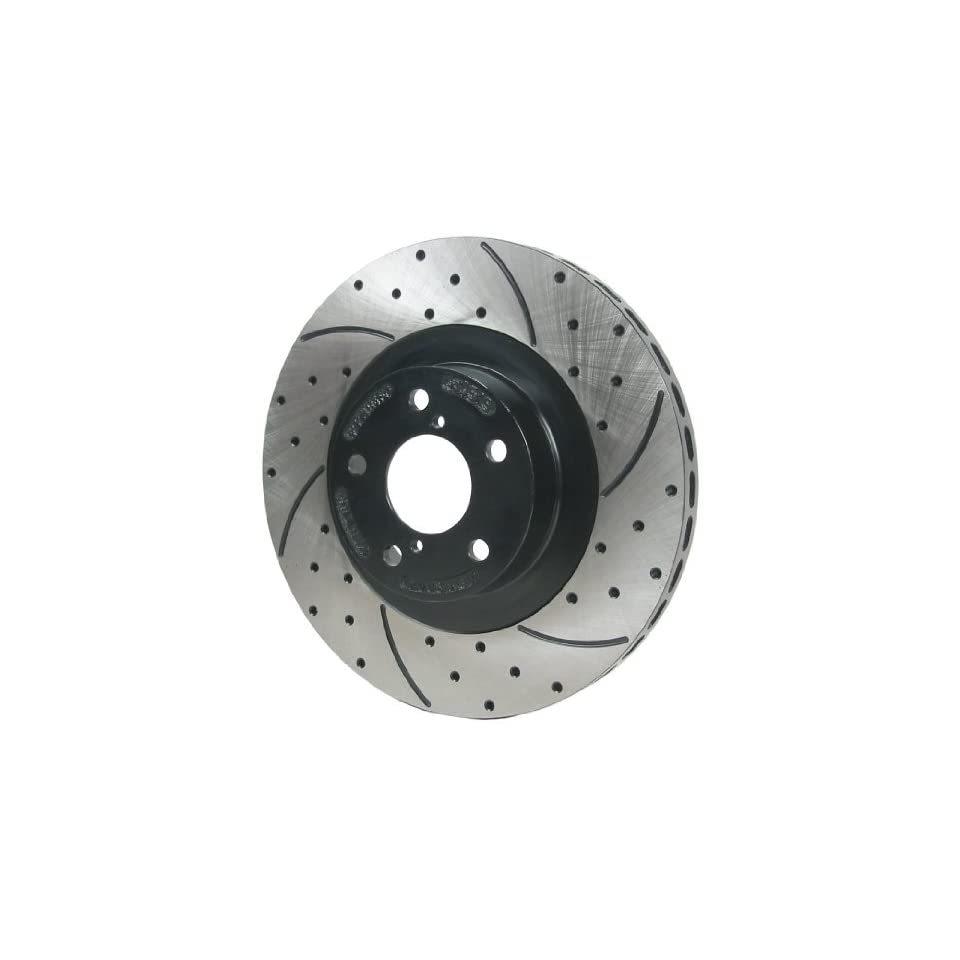 RacingBrake 9186 141 Drilled and Slotted Finish Front Brake Rotor for Acura Integra Type R 97 01 / Legend 91 95 / TL 3.2L 95 98 / Honda Odyssey 95 98  Pair