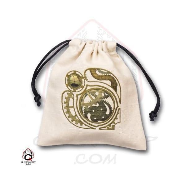 Q-Workshop: STEAMPUNK Dice Bag in Linen by Q-Workshop 3