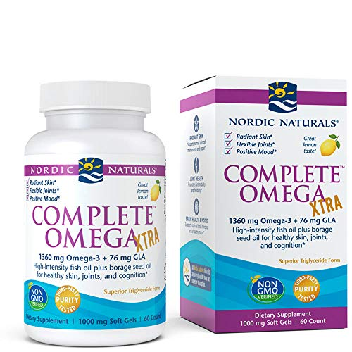 Nordic Naturals - Complete Omega Xtra, Optimal Support for Brain, Skin, Bones, and Joints, 60 Soft Gels (FFP)