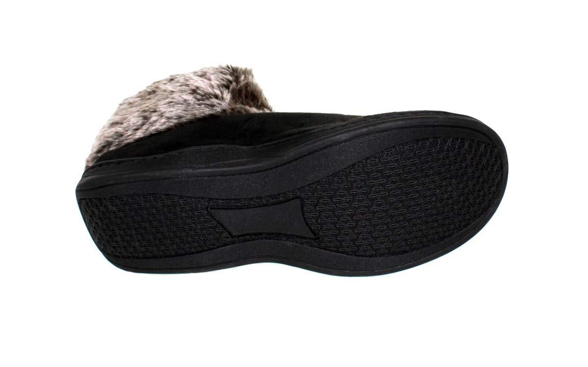 Comfy Feet ALA14-3 - Alabama Crimson Tide Faux Sheepskin Fur Top Slipper Boots - Large