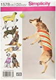 sewing dog clothes - Simplicity Creative Patterns 1578 Large Size Dog Clothes