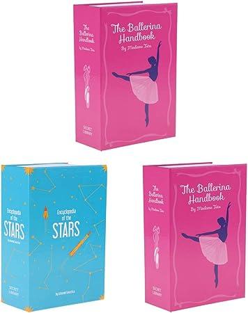 3 Unids Caja de Seguridad Forma de Libro Estilo Diccionario Portátil Combinación de Bloqueo 18x11.5x5.5cm: Amazon.es: Hogar