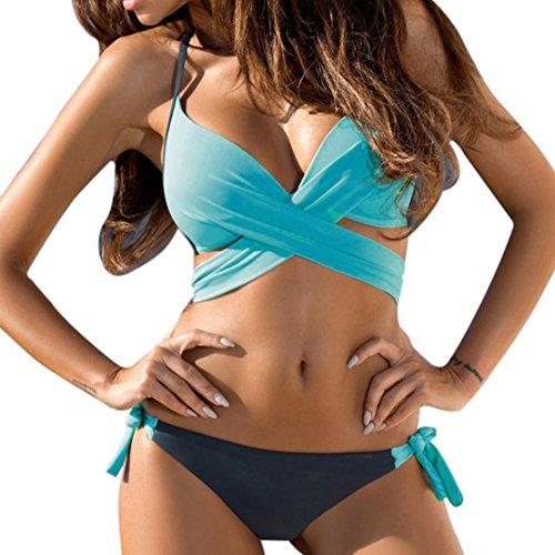 Donne Spiaggia Cielo da Delle della Blu Bagno Up Costume caramella Bagno Sexy Lace Sera larga Bikini Push Costumi Da Colori Swimwear Ningsun Da Taglia Bikini bagno Nuovo Da Costume Up gZnq006f