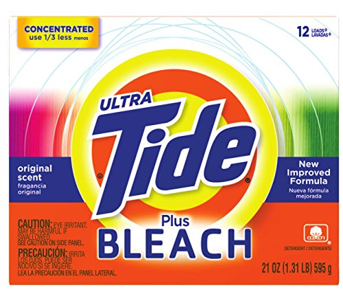 Procter & Gamble 608-27810 Tide Powder with Bleach Laundry Detergent, 21 fl. oz. (Pack of 15)