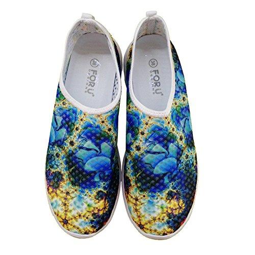 För U Designar Snygga Lätta Praktiska Mesh Sneaker Löparskor För Kvinnor Blue A