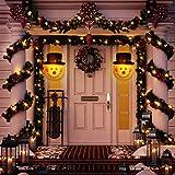 Amosfun 2PCS Christmas Porch Light Covers Christmas