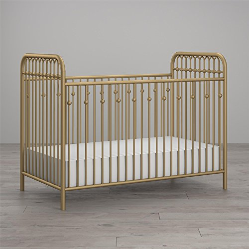 (Little Seeds Monarch Hill Ivy Metal Crib, Gold)