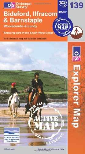 Bideford, Ilfracombe and Barnstable (OS Explorer Map Active)