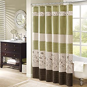 "Madison Park MP70-1918 Serene Shower Curtain 72x72"" green,72x72"""
