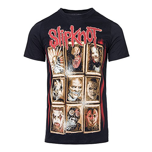 AWDIP Men's Official Slipknot New Masks T-Shirt Rock