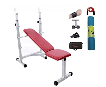 Lifeline Neoprene Multipurpose Bench for Home Gym Bundles with Yoga Mat,  Wrist Support and Accessories a4c11bda31