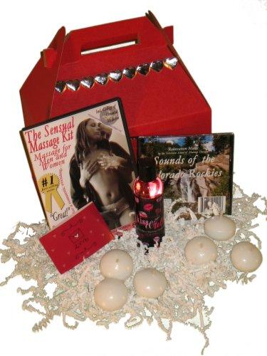 Valentine's Sweetheart Gift Basket Kit: Sensual Couples Massage man and woman DVDs, Massage Relaxation Music CD, Bonus DVD (3 DVD/1 CD)