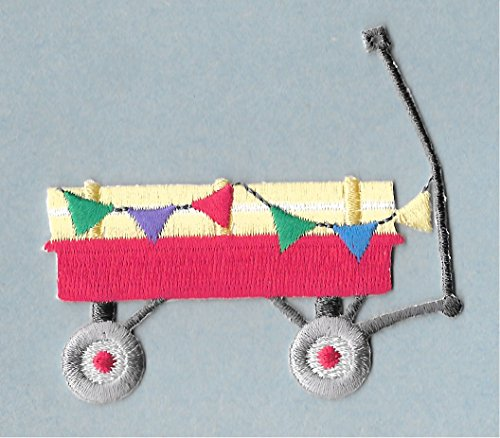 Embroidered Patch- Patches for Women Man- Cool Patches- Wagon - - Applique Wagon