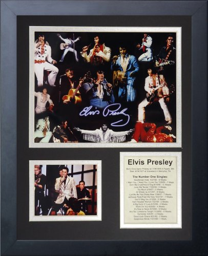 Elvis Home Decor - Legends Never Die Elvis Presley Framed Photo Collage, 11x14-Inch